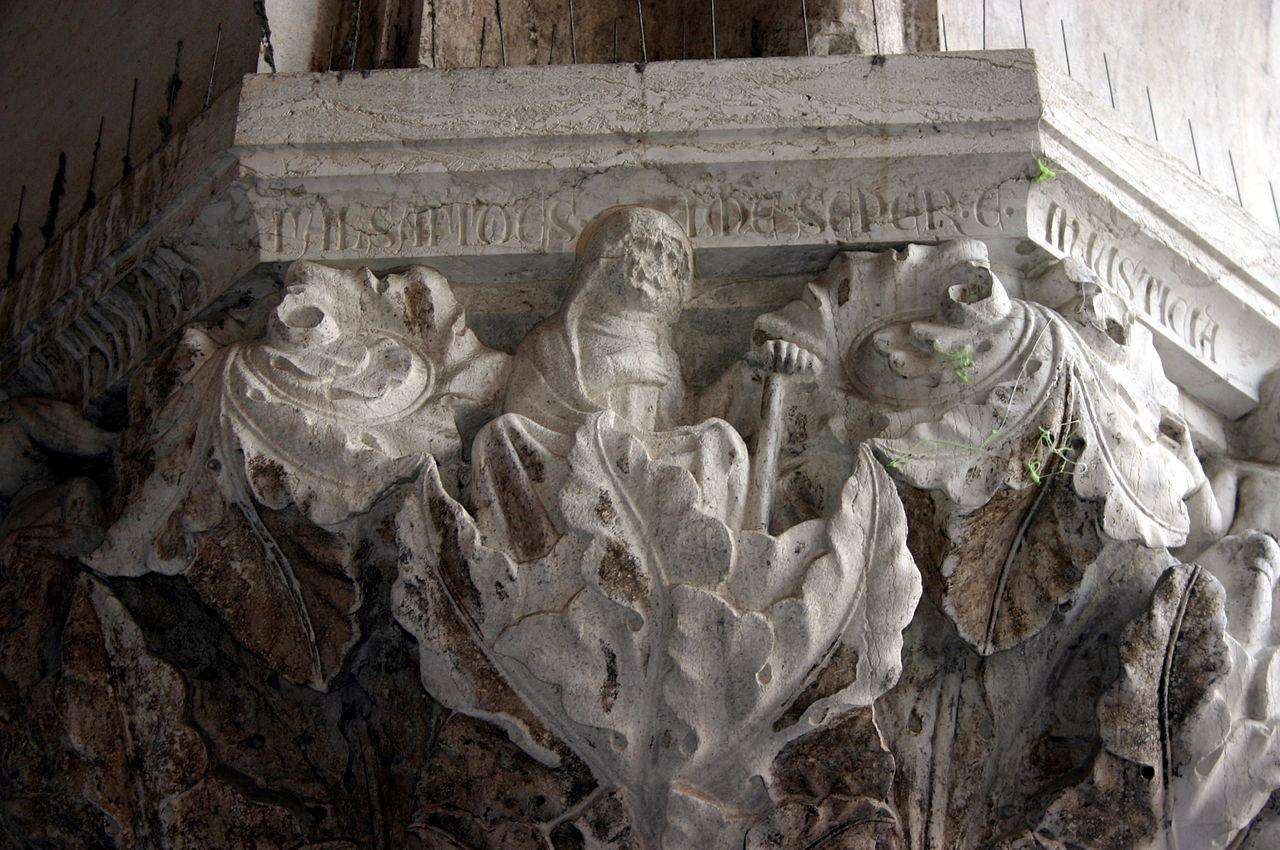 Falsa fides in me semper est (In mij is altijd ontrouw), Palazzo Ducale in Venetië